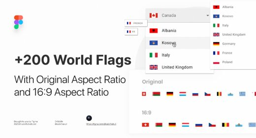 200 Free Figma World Flags