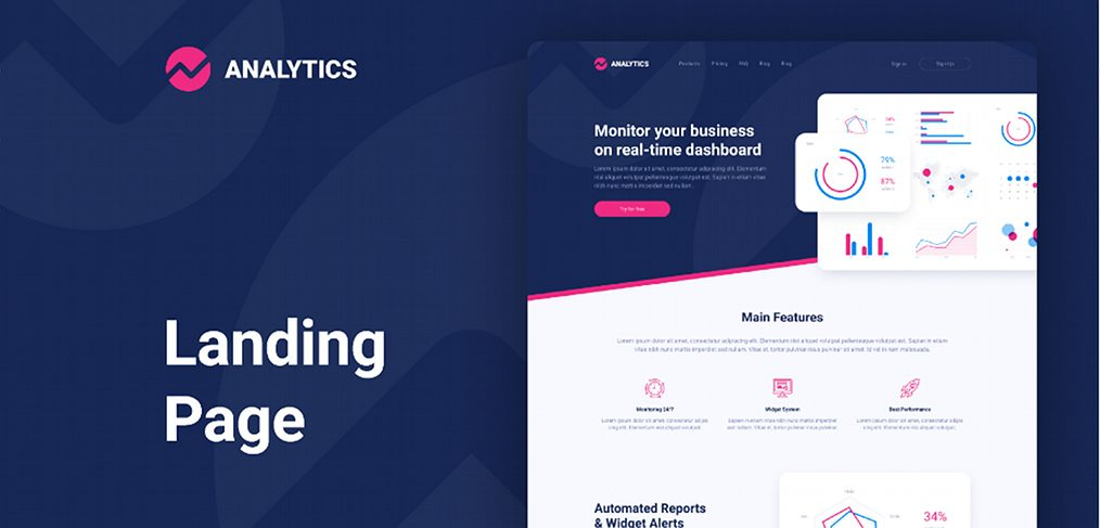 Figma Analytics landing page template
