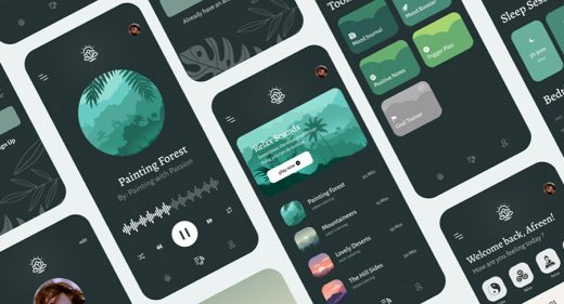 Figma free meditation app template