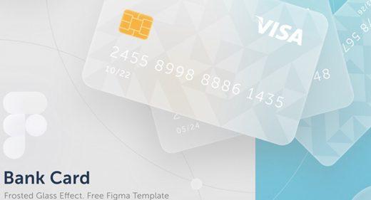 Free Figma Bank Card template