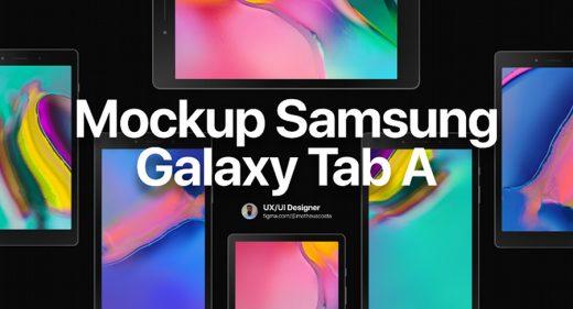Samsumg Galaxy Tab A Figma Mockup