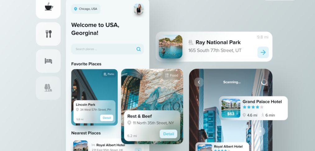 AR Figma travel app template
