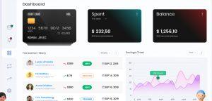 Digital wallet dashboard Figma freebie
