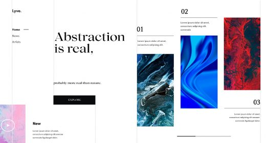 Figma abstract landing page
