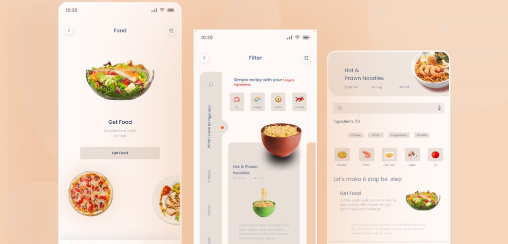Food delivery app template for Figma
