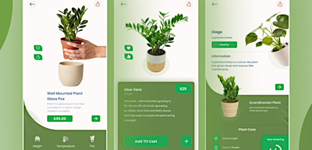 Plant care Figma mobile app concept