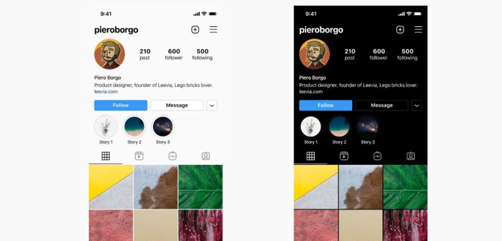 Figma Instagram UI 2021 - iOS
