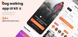 Figma dog walking app UI kit
