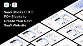 Saas blocks UI kit for Figma & Tailwind CSS